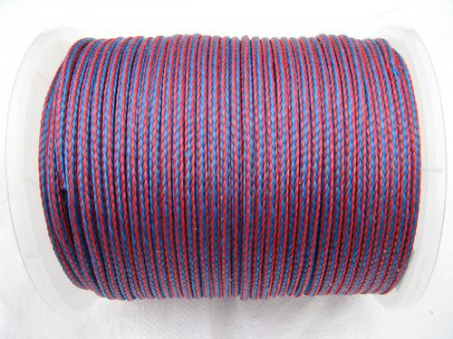 6MM x 175 Metre Blue/Red 16 Plait Single Braided PolyPropylene Rope - PP Hollow